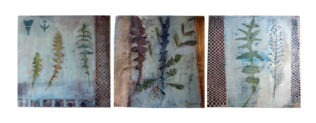Image of paintings of leaves of the plant shepherd's purse (Jean Duncan)