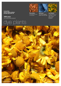Living Field poster on plant dyes