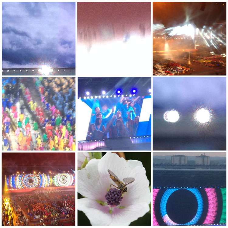 Fantastic opening night of the Commonwealth Games Glasgow (phone images)