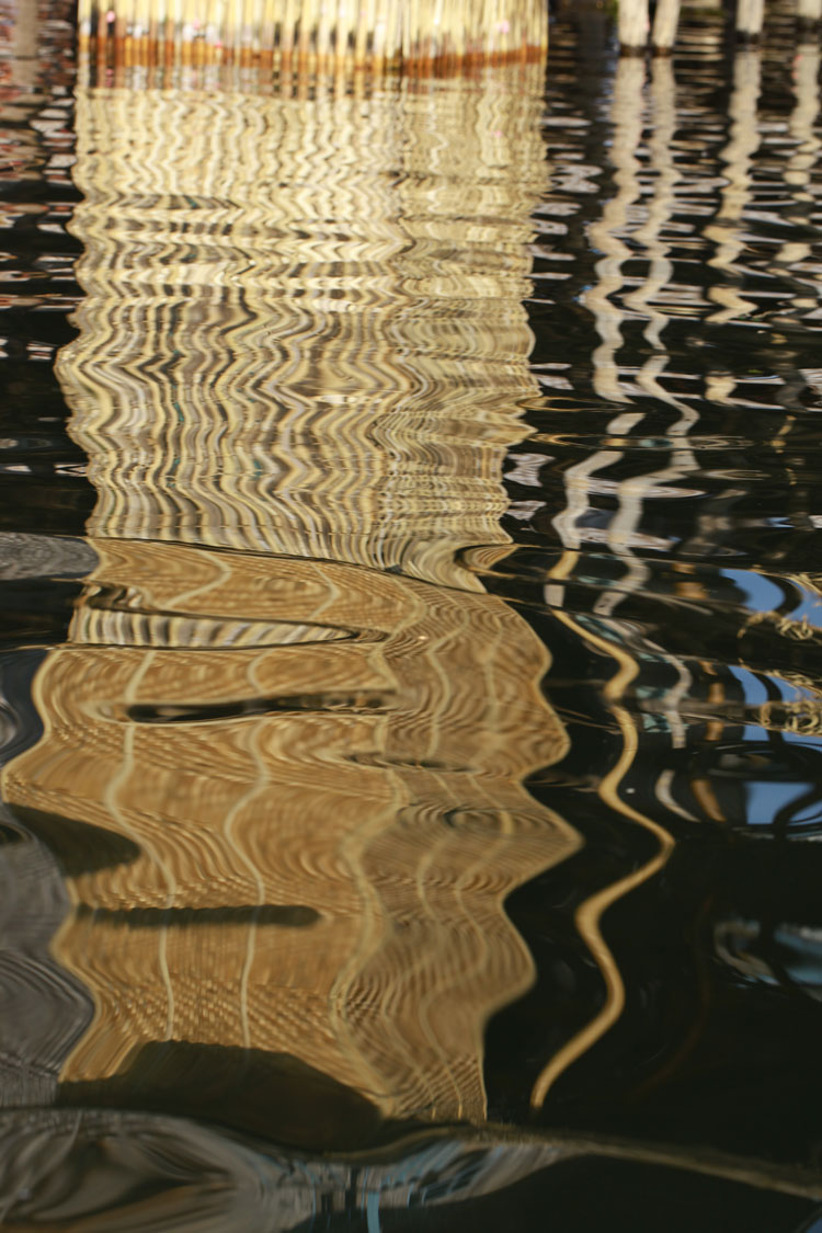 Water-image of bamboo weave, Inle, Burma (Squire)