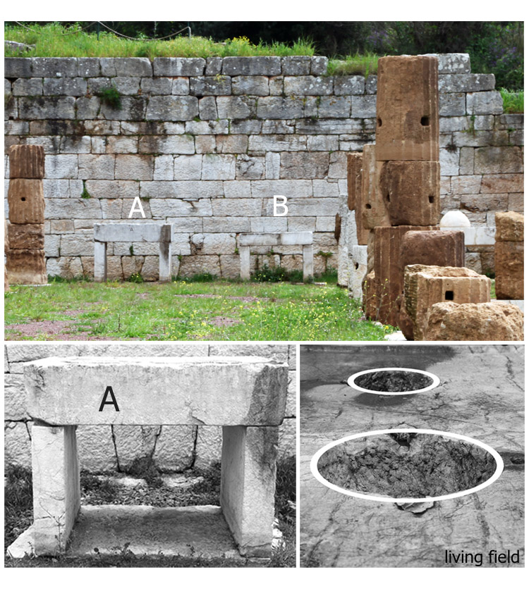 Measuring tables at Messene (Squire)