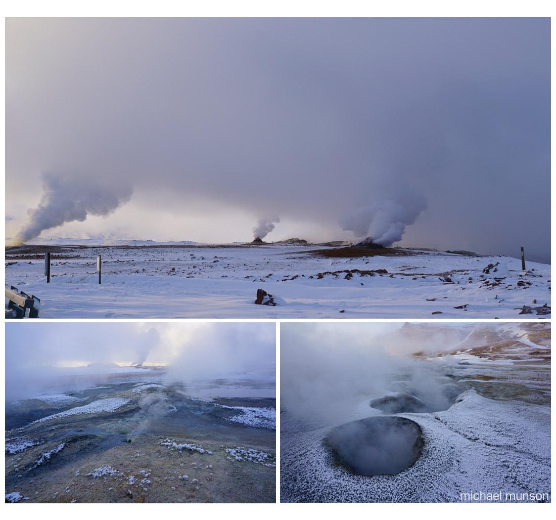 Geothermal landscape near Lake Mývatn (Michael Munson / Kirsten Buchholz)