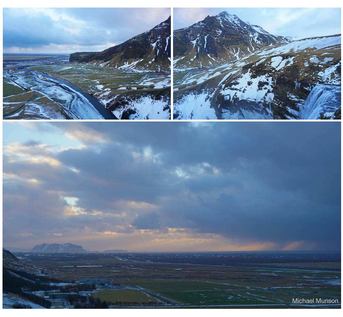 The southern agricultural plain from Skogafoss (Michael Munson / Kirsten Buckholz)